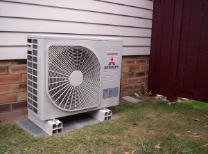 Home central air conditioning unit
