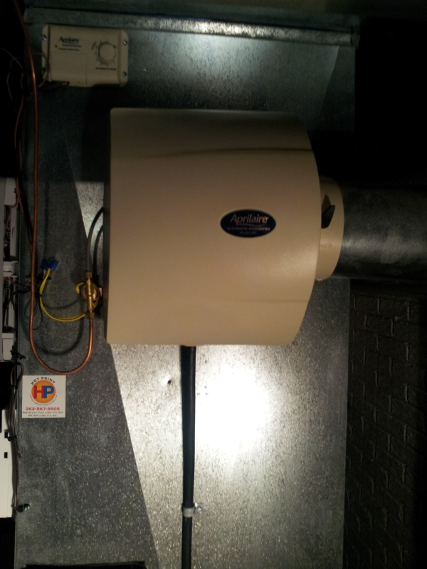 Broken Furnace and Aprilaire Dehumidifier in Hartland, WI